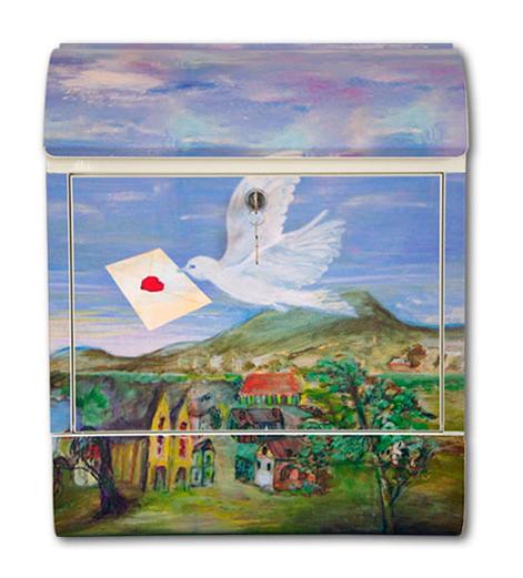 Pokke(ポッケ) 癒しの音が流れるアートメールボックス(鳥)
