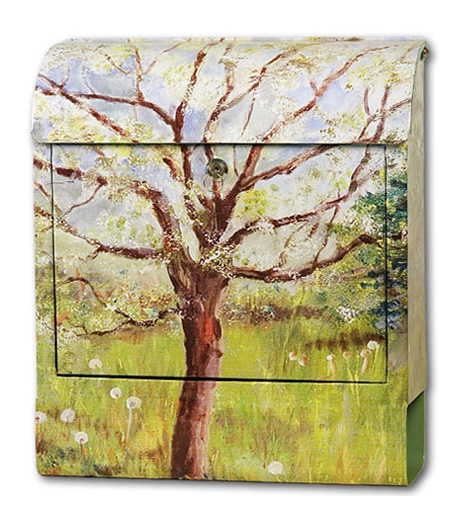 Pokke(ポッケ) 癒しの音が流れるアートメールボックス(木)