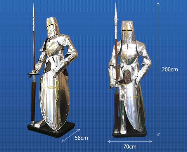 商品サイズ:騎士の鎧